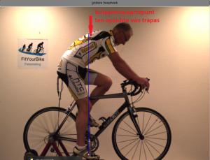 lichaamszwaartepunt op de fiets